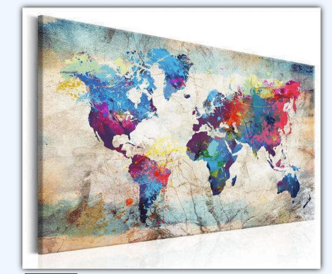 diamond painting wereld wereldkaart