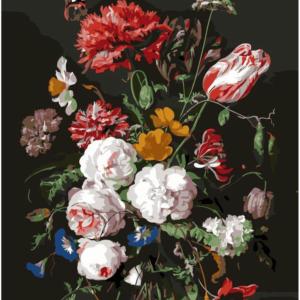 Diamond painting bloemen in vaas