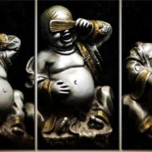Diamond painting boeddha horen zien zwijgen