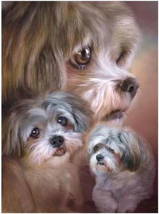 Diamond painting hondjes