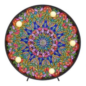 Diamond painting mandala lamp