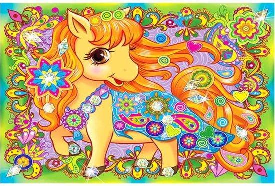 Diamond painting paard kind