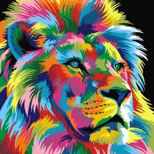 diamond painting leeuwenkop