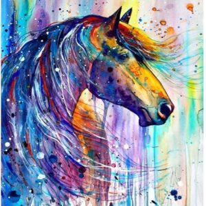 diamond painting paardenhoofd