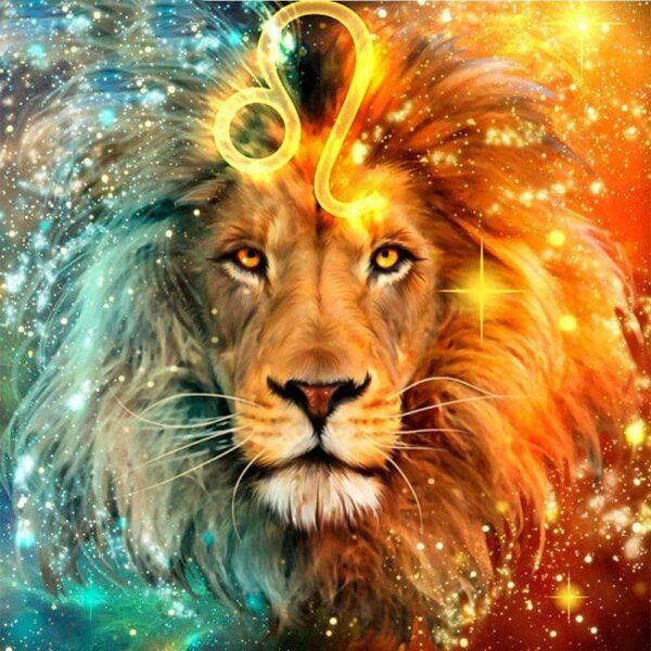 diamond painting sterrenbeeld leeuw