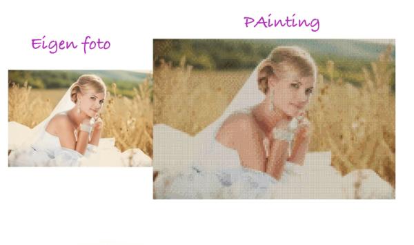 diamond painting van eigen foto
