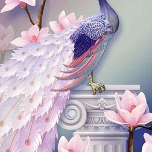 dimaond painting pauw roze