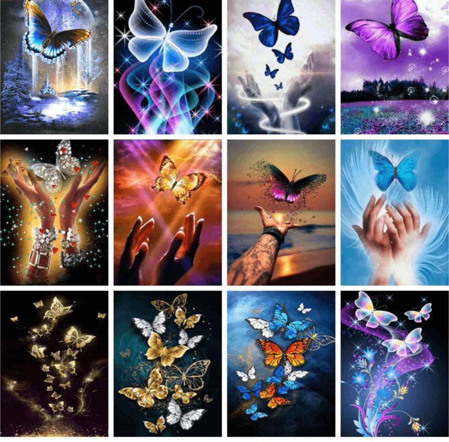 Aliexpress diamond painting vlinders