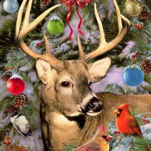 Diamond painting hert kerstmis