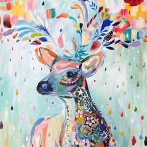 diamond painting kleurrijk hert