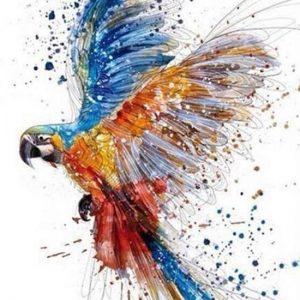 diamond painting papegaai