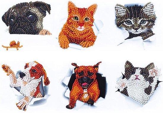 diamond painting stickers hond en kat