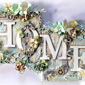 diamond painting tekst home