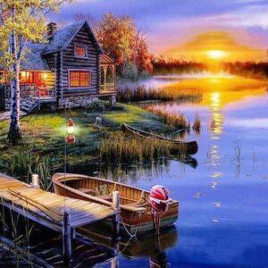 diamond painting zomerse zonsondergang