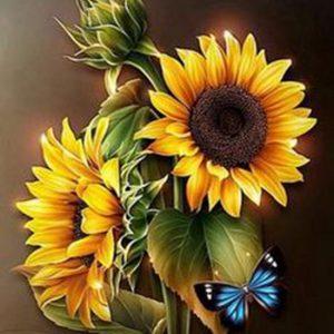diamond painting zonnebloemen