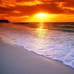 diamond painting zonsondergang strand