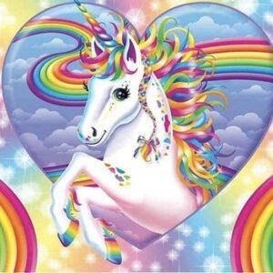 diamond painting unicorn regenboog