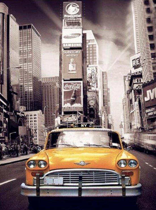 diamond paitnting auto taxi in New York