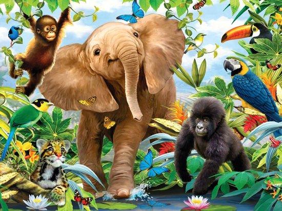diamond painting jungle dieren